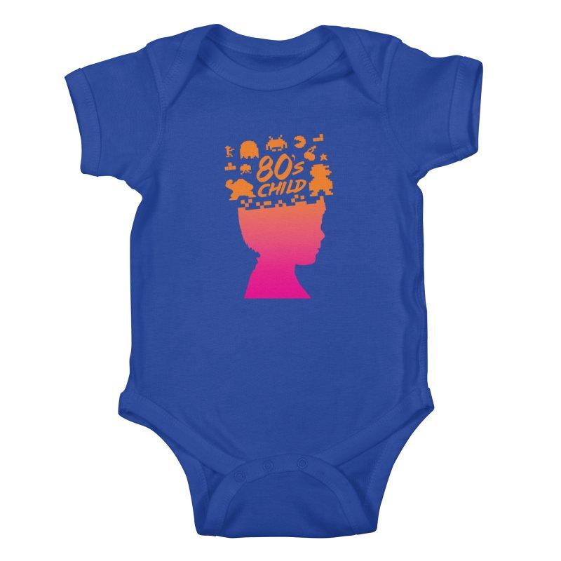 80s child Kids Baby Bodysuit by mhacksi's Artist Shop