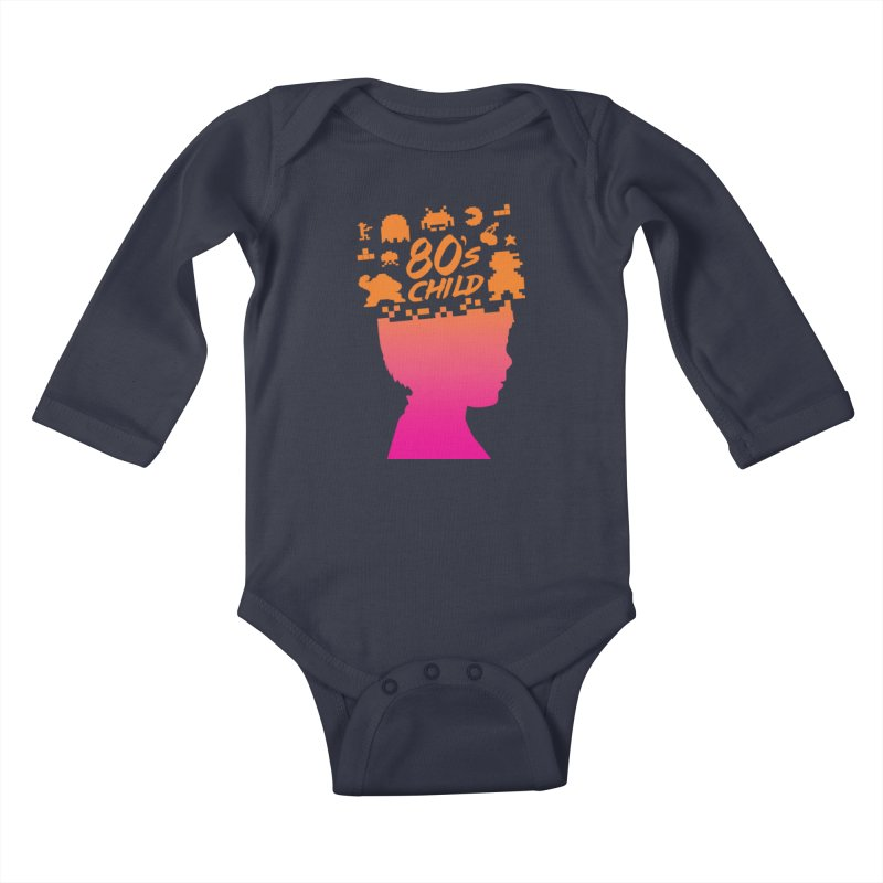 80s child Kids Baby Longsleeve Bodysuit by mhacksi's Artist Shop