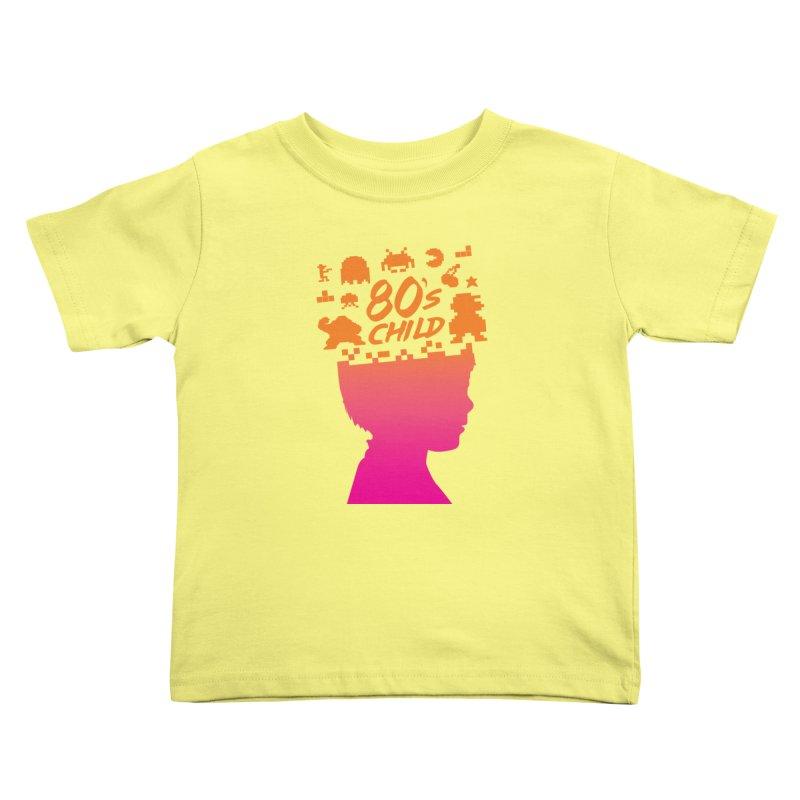 80s child Kids Toddler T-Shirt by mhacksi's Artist Shop
