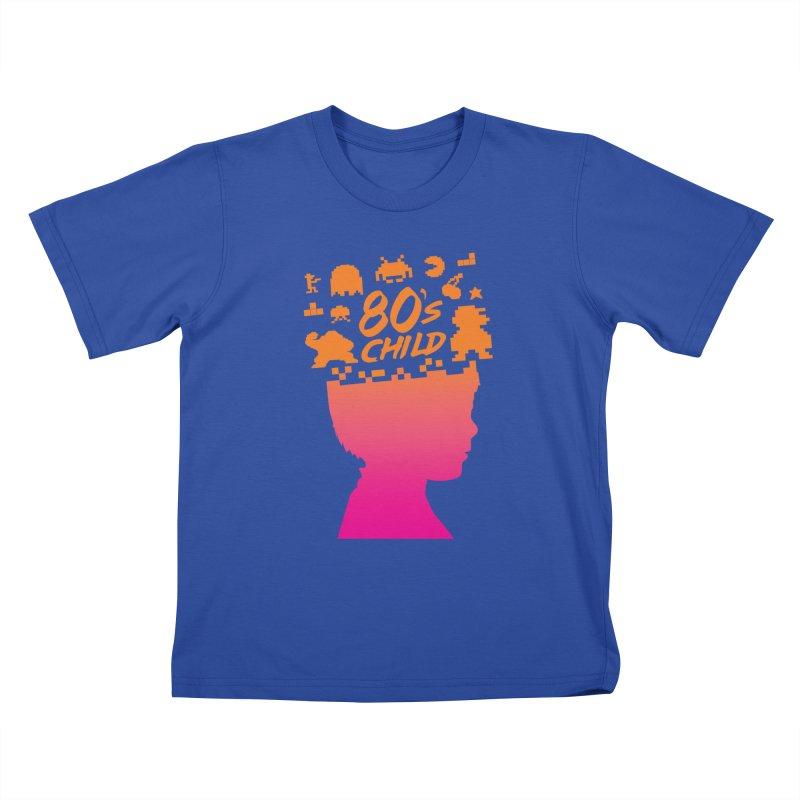 80s child Kids T-Shirt by mhacksi's Artist Shop