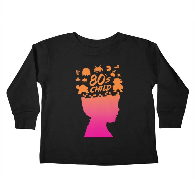 80s child Kids Toddler Longsleeve T-Shirt by mhacksi's Artist Shop