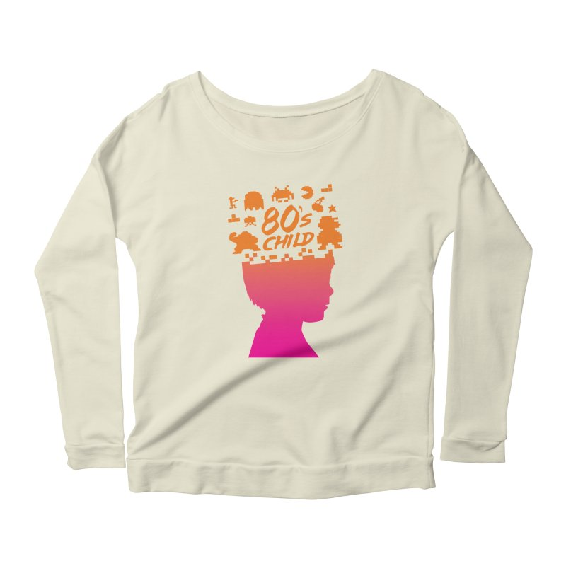 80s child Women's Longsleeve Scoopneck  by mhacksi's Artist Shop