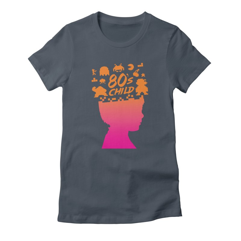 80s child Women's Fitted T-Shirt by mhacksi's Artist Shop