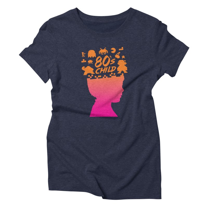80s child Women's Triblend T-Shirt by mhacksi's Artist Shop