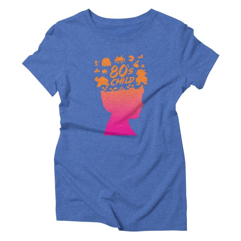 80s child Women's Triblend T-shirt by mhacksi's Artist Shop