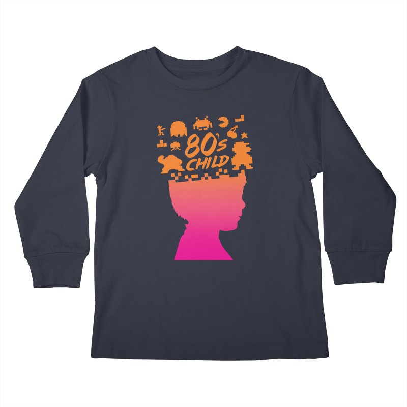 80s child Kids Longsleeve T-Shirt by mhacksi's Artist Shop