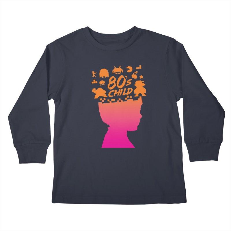 80s child Kids Longsleeve T-Shirt by mhacksi's Artist Shop