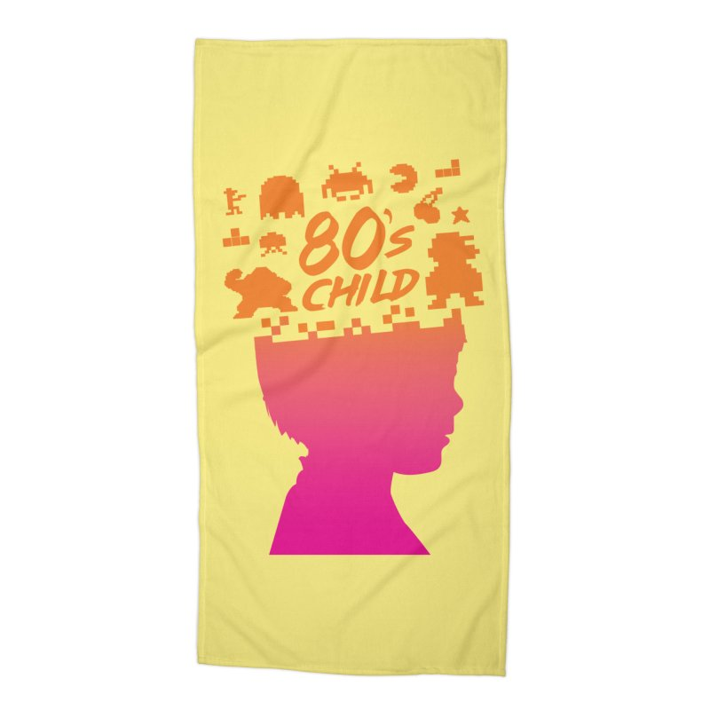 80s child Accessories Beach Towel by mhacksi's Artist Shop