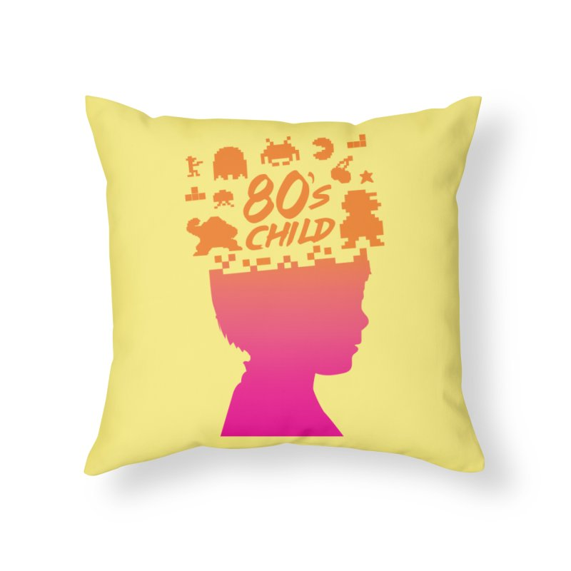 80s child Home Throw Pillow by mhacksi's Artist Shop