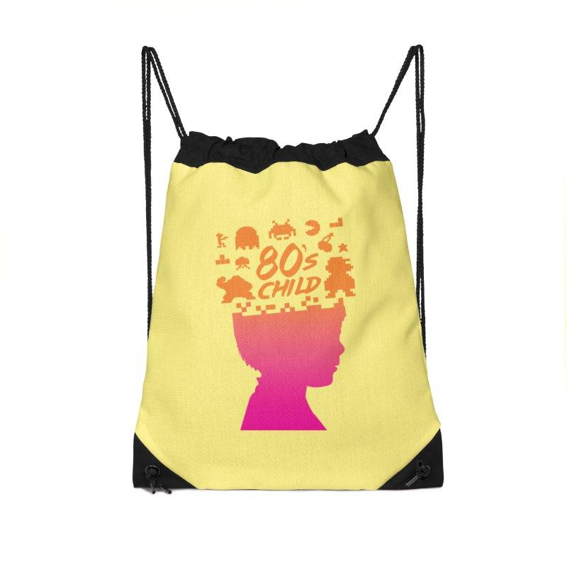 80s child Accessories Drawstring Bag Bag by mhacksi's Artist Shop