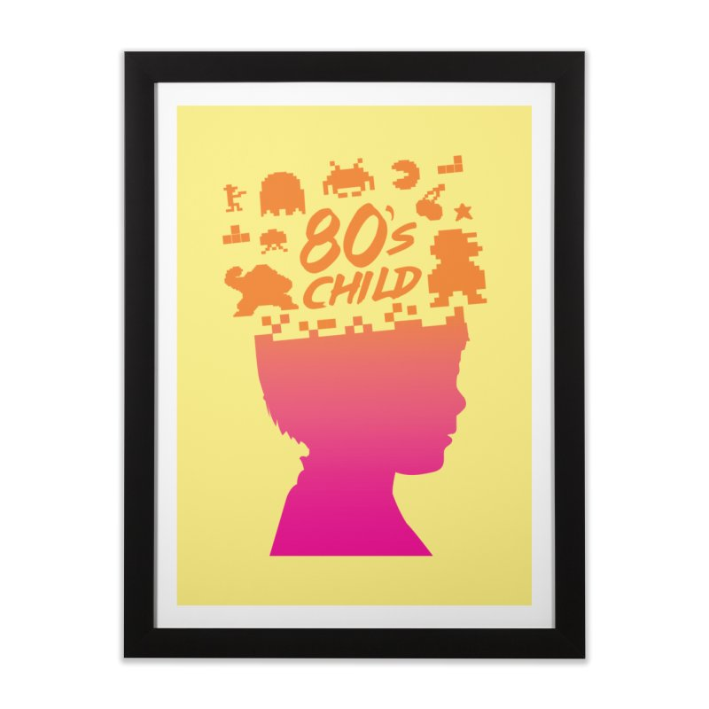 80s child Home Framed Fine Art Print by mhacksi's Artist Shop