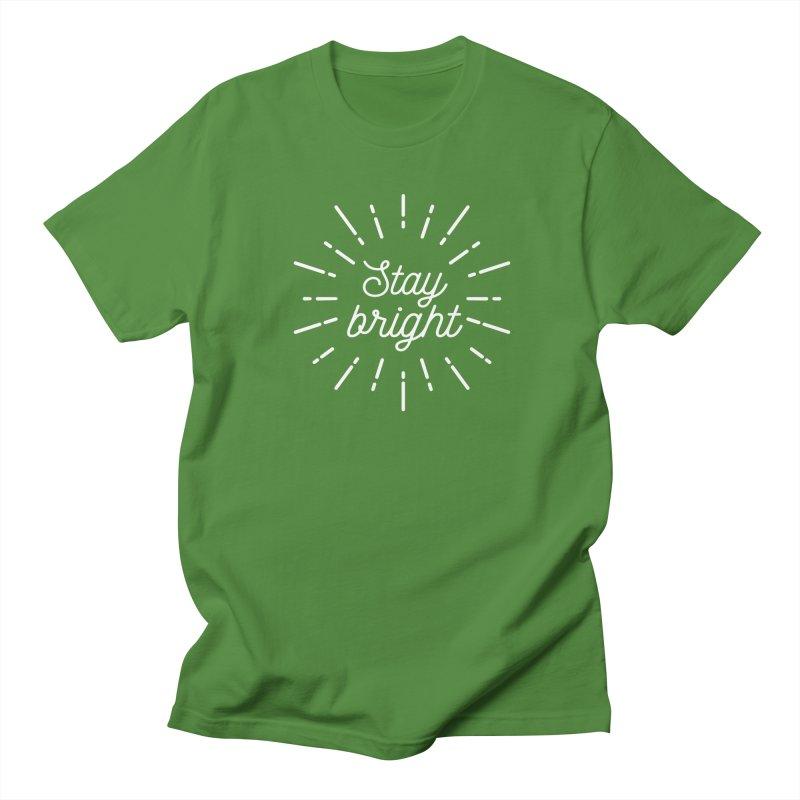 Stay Bright Men's Regular T-Shirt by mhacksi's Artist Shop