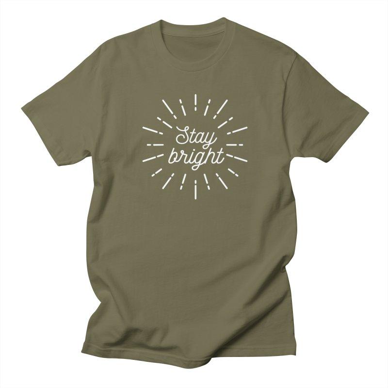 Stay Bright Women's Regular Unisex T-Shirt by mhacksi's Artist Shop