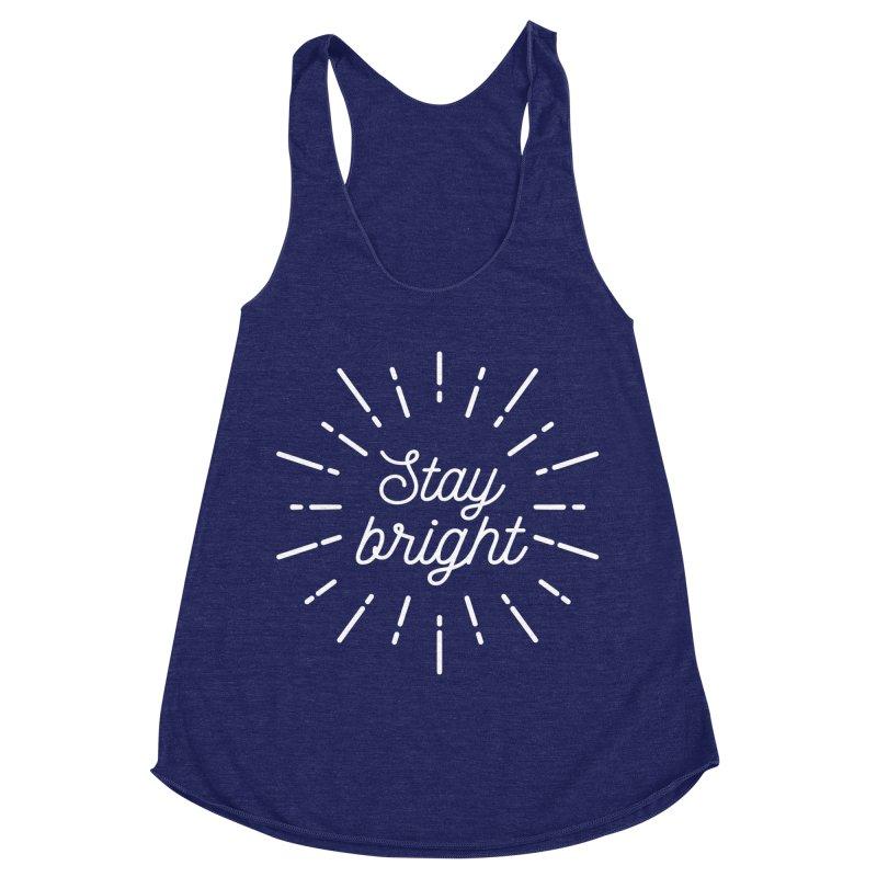 Stay Bright Women's Racerback Triblend Tank by mhacksi's Artist Shop