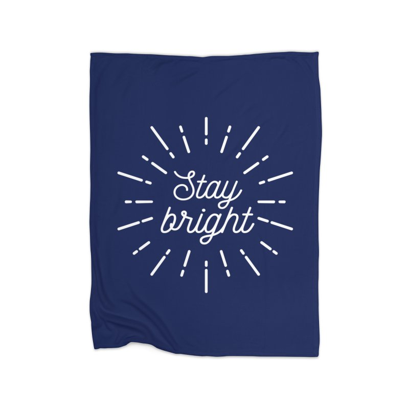 Stay Bright Home Fleece Blanket Blanket by mhacksi's Artist Shop