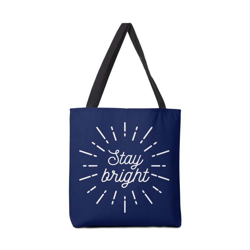 Stay Bright Accessories Tote Bag Bag by mhacksi's Artist Shop