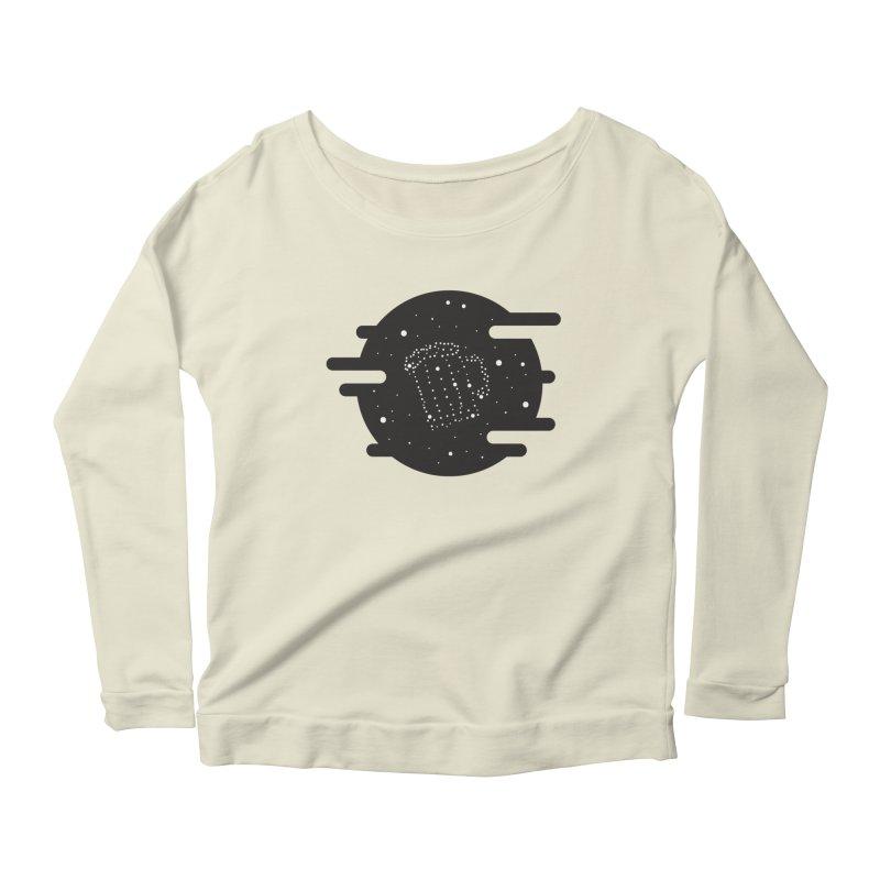 Beer constelation Women's Scoop Neck Longsleeve T-Shirt by mhacksi's Artist Shop