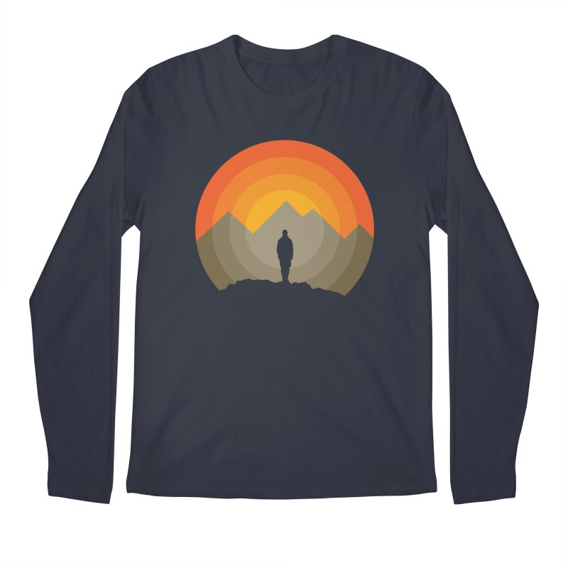 Explorer Men's Regular Longsleeve T-Shirt by mhacksi's Artist Shop