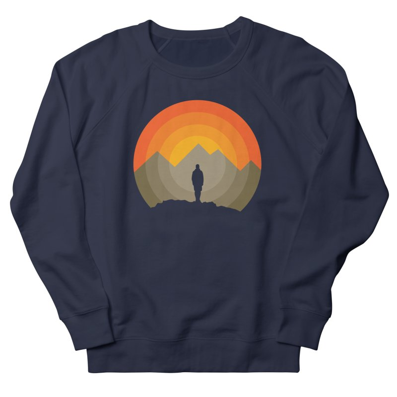 Explorer Men's French Terry Sweatshirt by mhacksi's Artist Shop