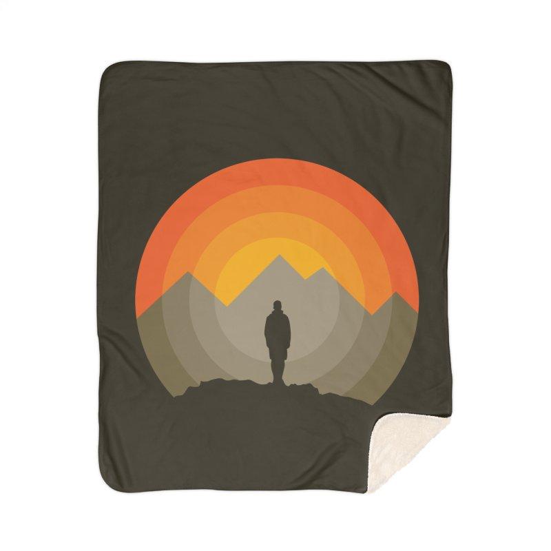 Explorer Home Sherpa Blanket Blanket by mhacksi's Artist Shop