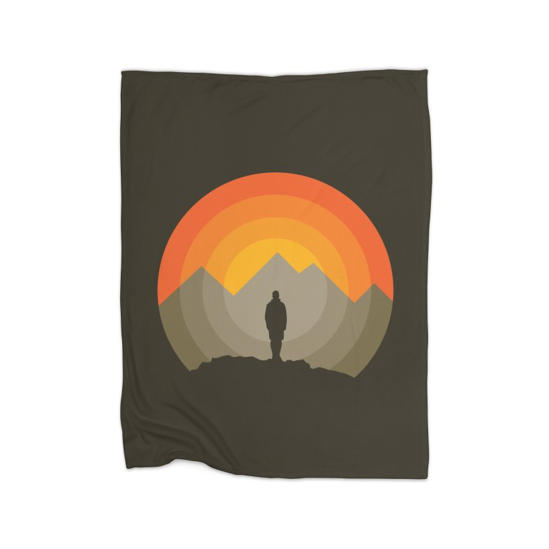 Explorer Home Fleece Blanket Blanket by mhacksi's Artist Shop