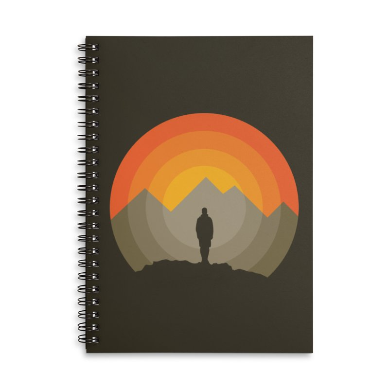 Explorer Accessories Lined Spiral Notebook by mhacksi's Artist Shop