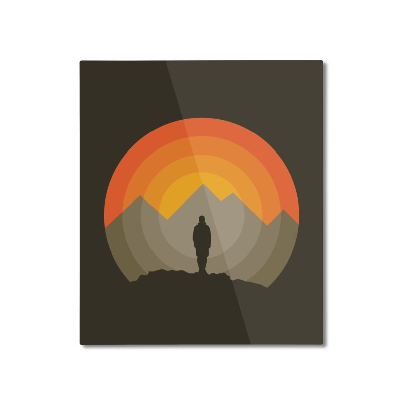 Explorer Home Mounted Aluminum Print by mhacksi's Artist Shop