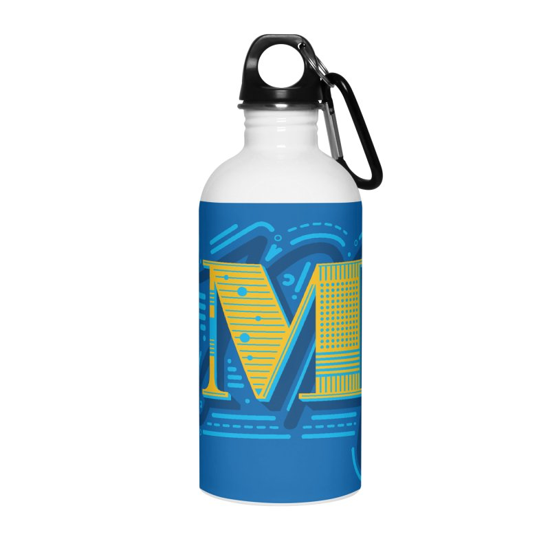 M Accessories Water Bottle by mhacksi's Artist Shop
