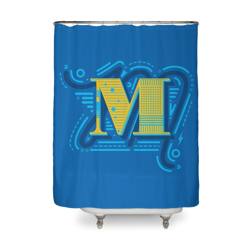 M Home Shower Curtain by mhacksi's Artist Shop