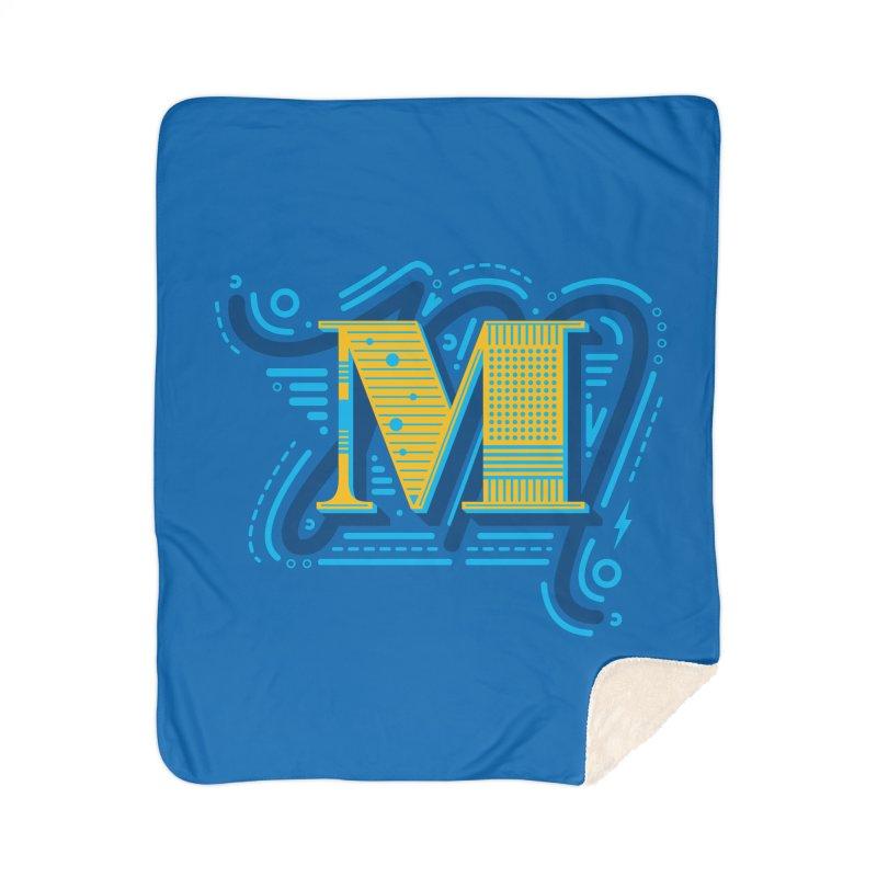 M Home Sherpa Blanket Blanket by mhacksi's Artist Shop