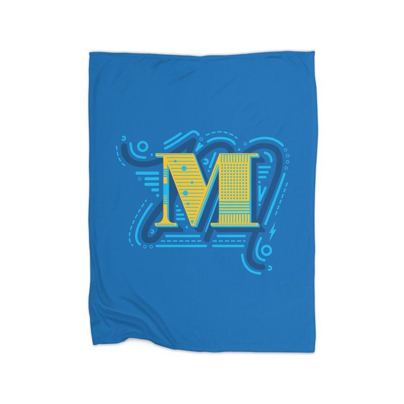M Home Blanket by mhacksi's Artist Shop