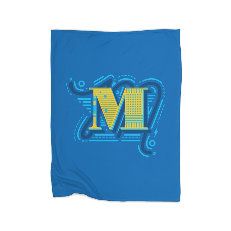 M Home Blanket by mhacksi's Artist Shop