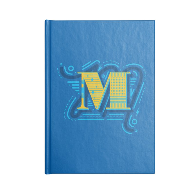 M Accessories Lined Journal Notebook by mhacksi's Artist Shop