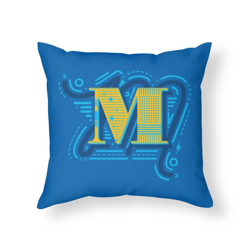 M Home Throw Pillow by mhacksi's Artist Shop