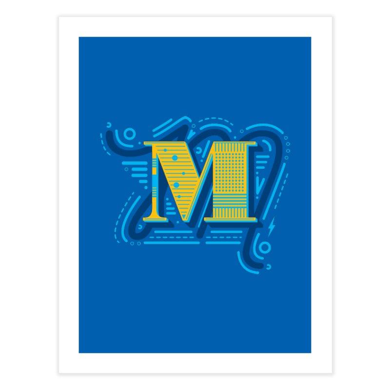 M Home Fine Art Print by mhacksi's Artist Shop