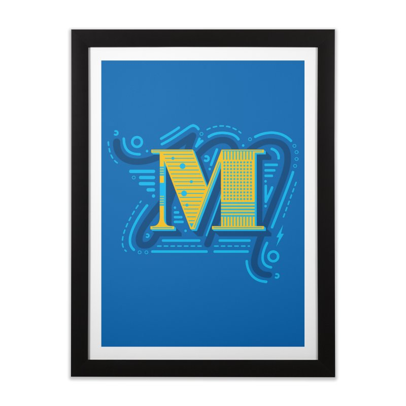 M Home Framed Fine Art Print by mhacksi's Artist Shop