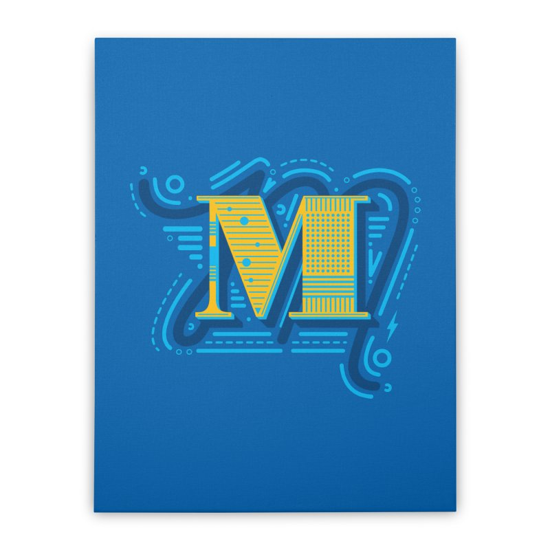 M Home Stretched Canvas by mhacksi's Artist Shop