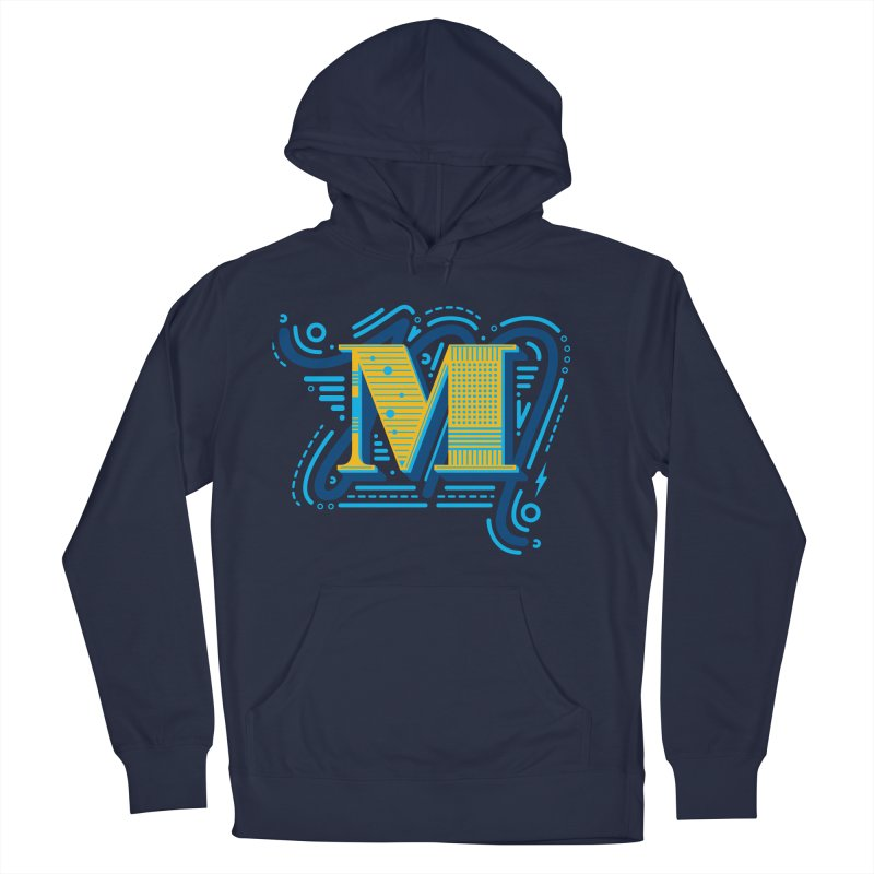 M Women's French Terry Pullover Hoody by mhacksi's Artist Shop