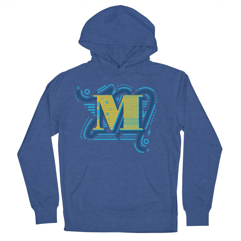 M Men's French Terry Pullover Hoody by mhacksi's Artist Shop