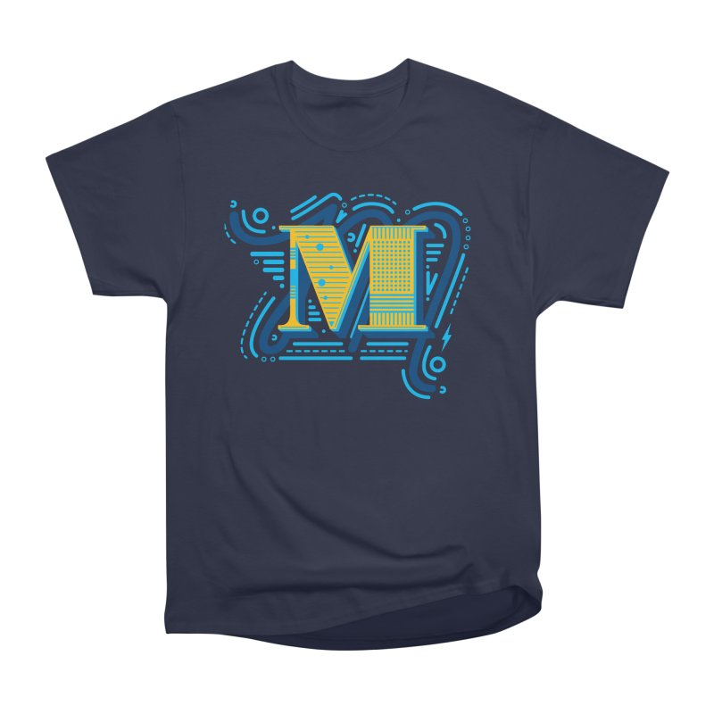 M Men's Heavyweight T-Shirt by mhacksi's Artist Shop