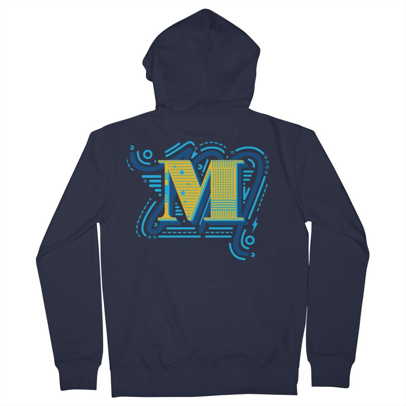 M Men's French Terry Zip-Up Hoody by mhacksi's Artist Shop