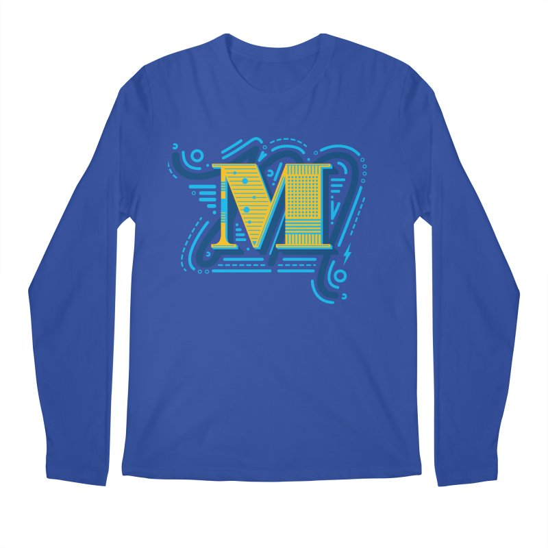 M Men's Longsleeve T-Shirt by mhacksi's Artist Shop
