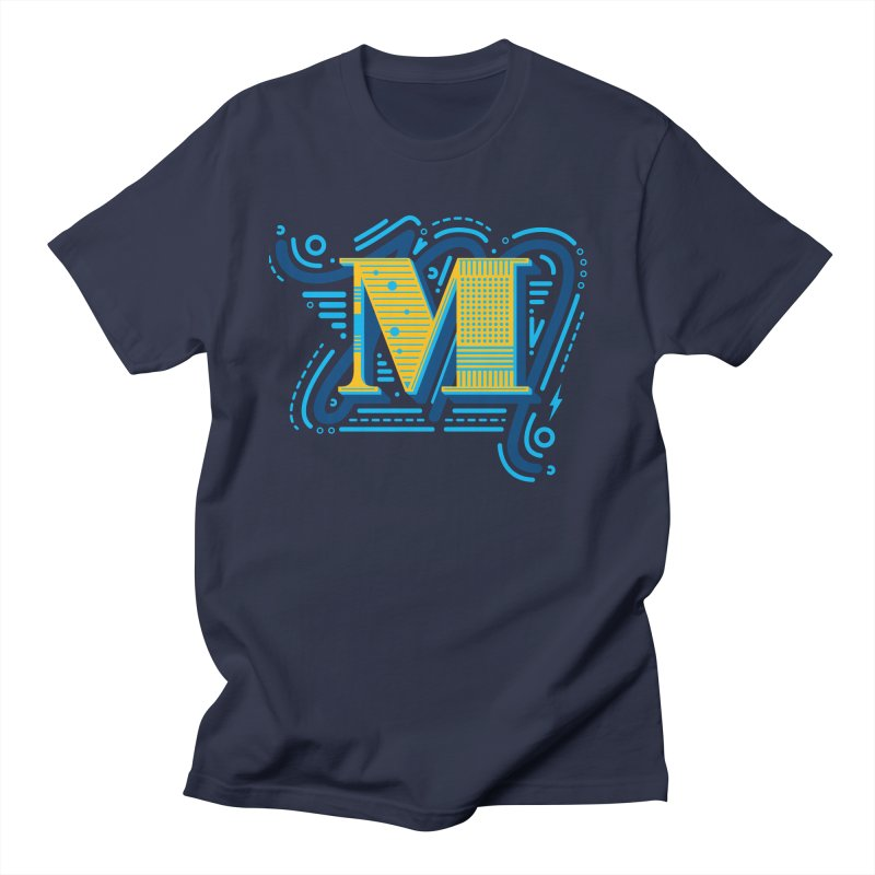 M Men's Regular T-Shirt by mhacksi's Artist Shop