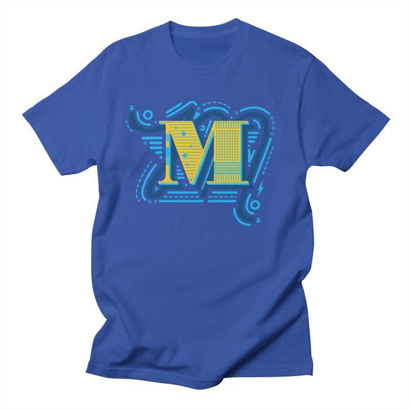M Men's T-Shirt by mhacksi's Artist Shop