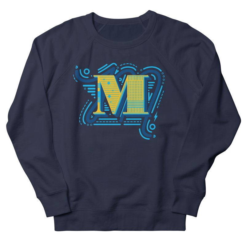 M Men's French Terry Sweatshirt by mhacksi's Artist Shop
