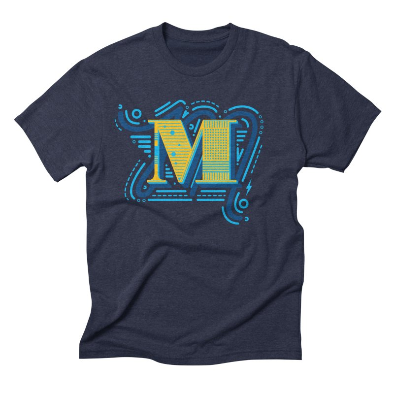 M Men's Triblend T-Shirt by mhacksi's Artist Shop