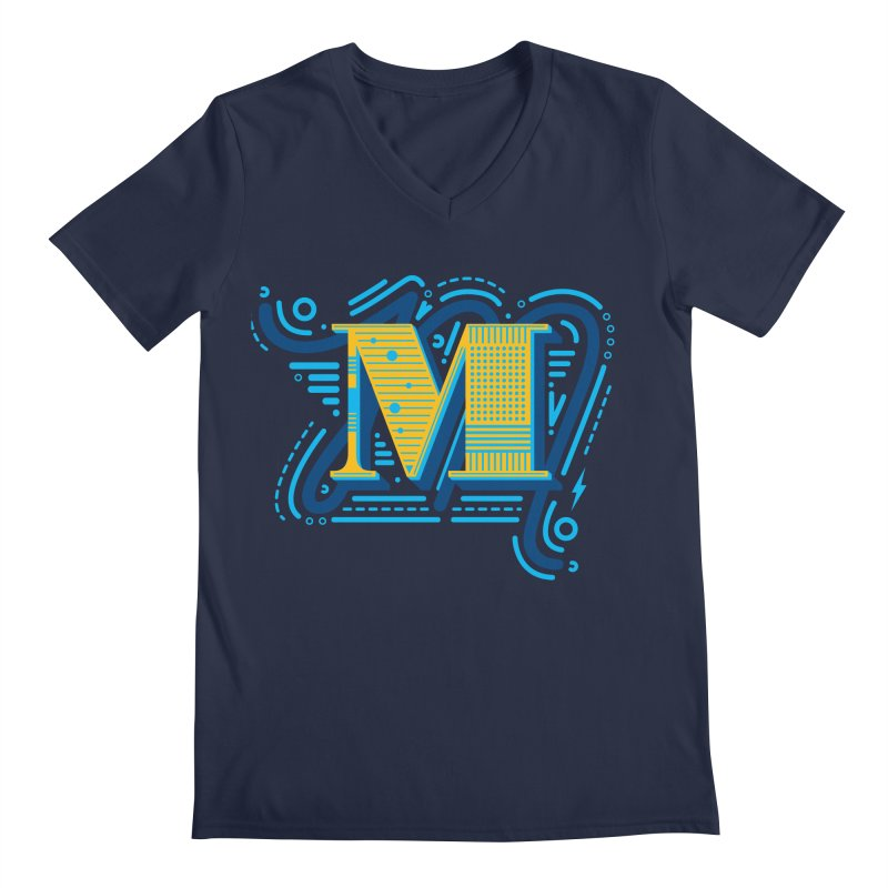 M Men's V-Neck by mhacksi's Artist Shop