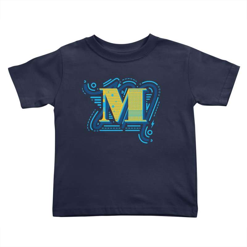 M Kids Toddler T-Shirt by mhacksi's Artist Shop