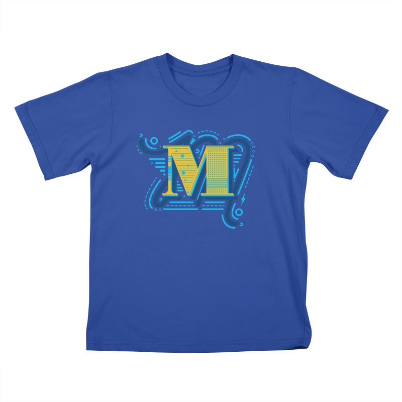 M Kids T-Shirt by mhacksi's Artist Shop