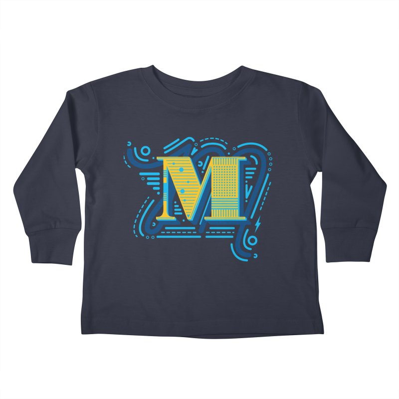 M Kids Toddler Longsleeve T-Shirt by mhacksi's Artist Shop